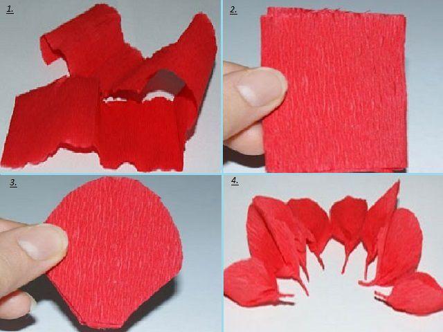 Как сделать из гофрированной бумаги тюльпаны своими руками 75