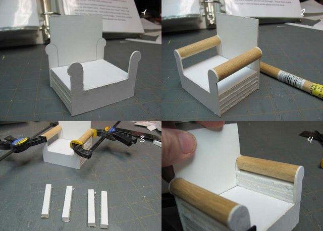 Мебель в кукольный домик своими руками из картона 86