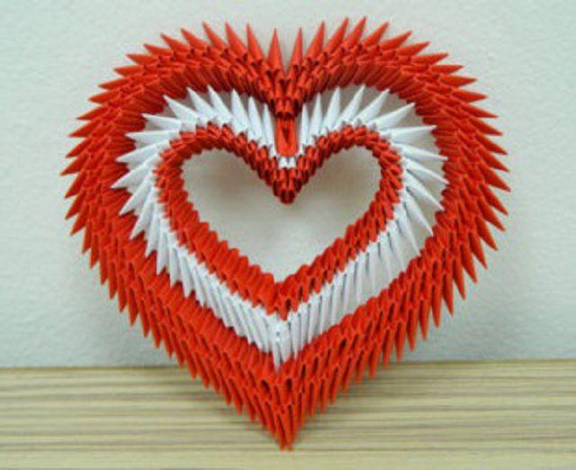 Сделать модульное оригами сердце