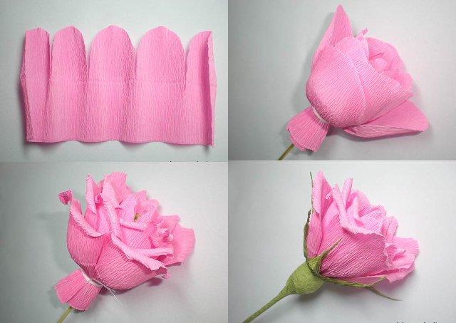 Сделать цветок из гофрированной бумаги своими руками