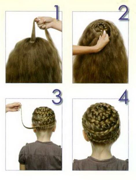 Как плести корзинку на волосах ребенка