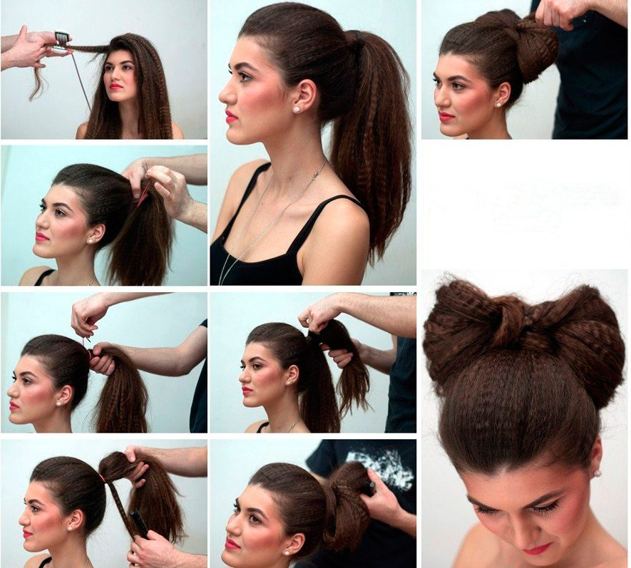 Причёски бантик из волос своими руками