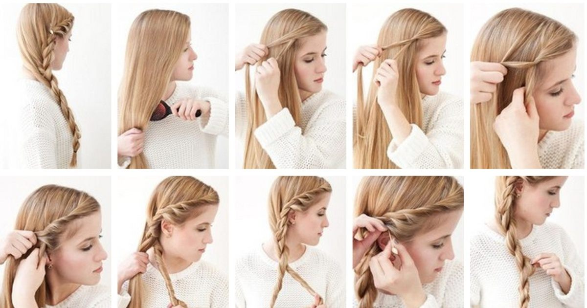 Как плести красивые и легкие причёски 511