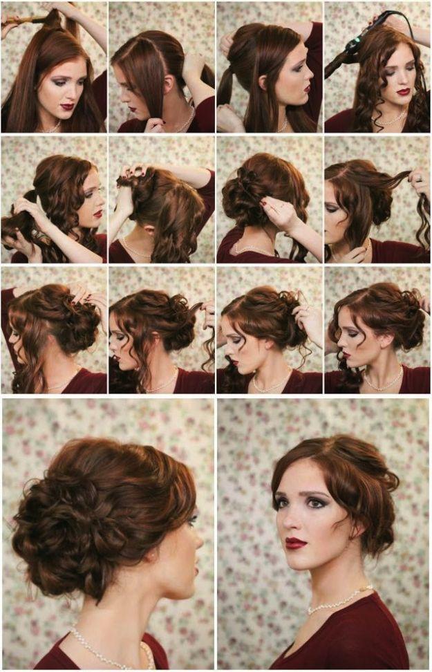 Как сделать пучок на длинных волосах самостоятельно