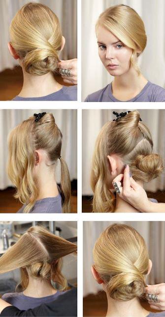 Как сделать прическу на средние волосы на прогулку