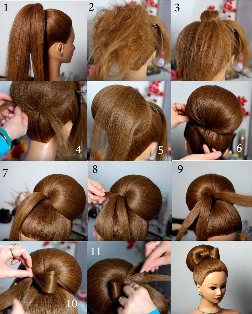 Причёска бабетта своими руками 110