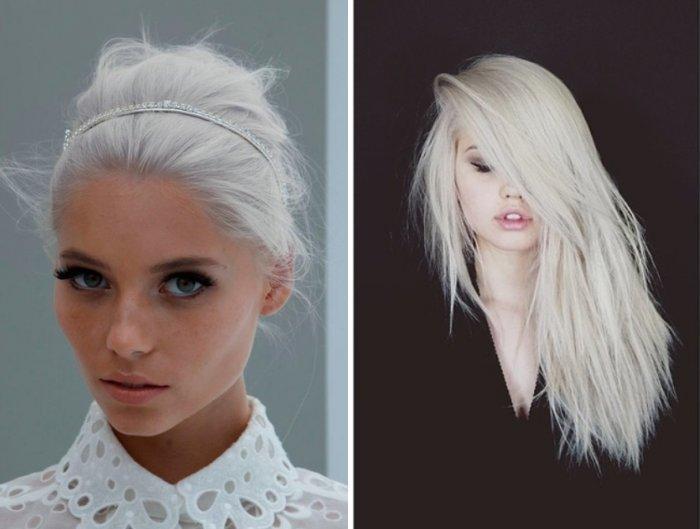 Как сделать чисто белый цвет волос