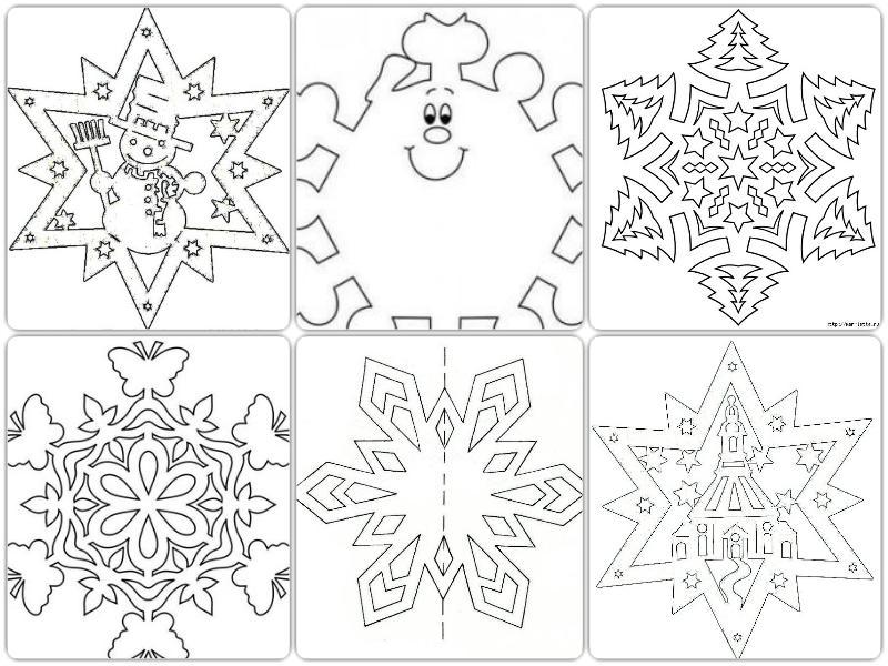 Шаблони сніжинок з паперу скачать
