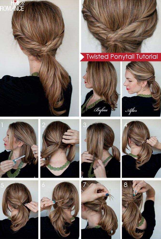 Легкие повседневные прически на средние волосы своими руками в школу 11