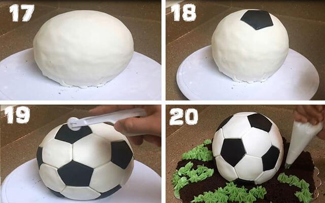 Как сделать торт футбольный мяч своими руками 78