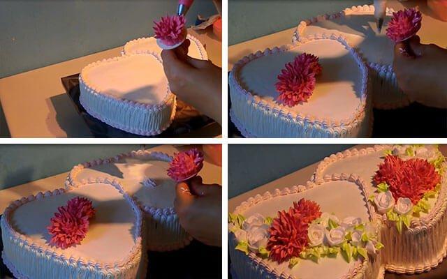 Торт сердечком своими руками 86