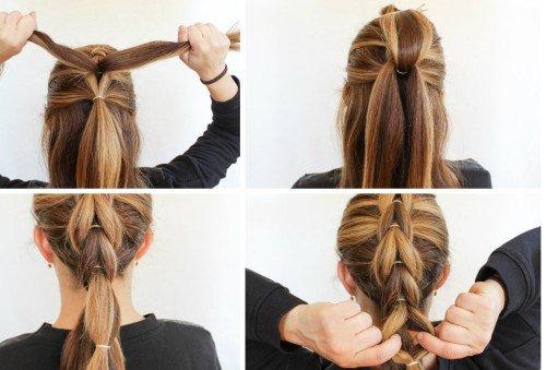 Как сделать прически для волос с резинками 793