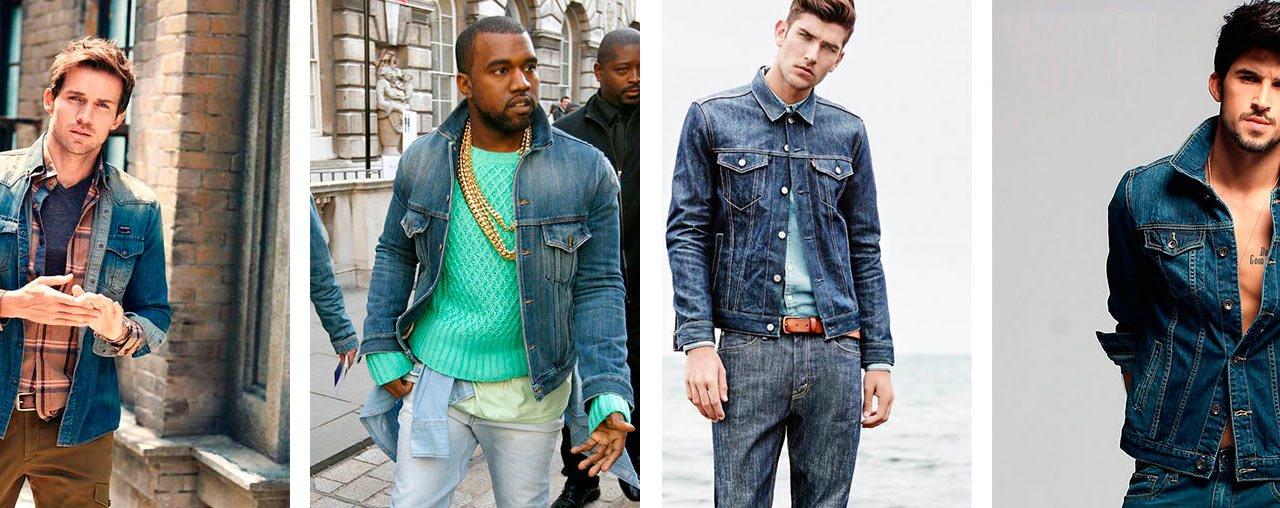 самая главная с чем носить мужскую джинсовую куртку фото кольце