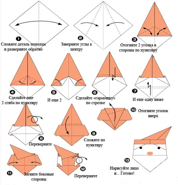 Оригами поделки к новому году своими руками